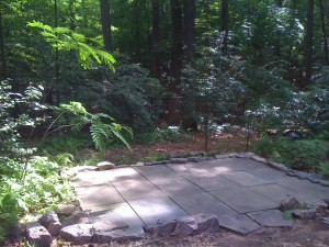Stone Terrace Project in my backyard