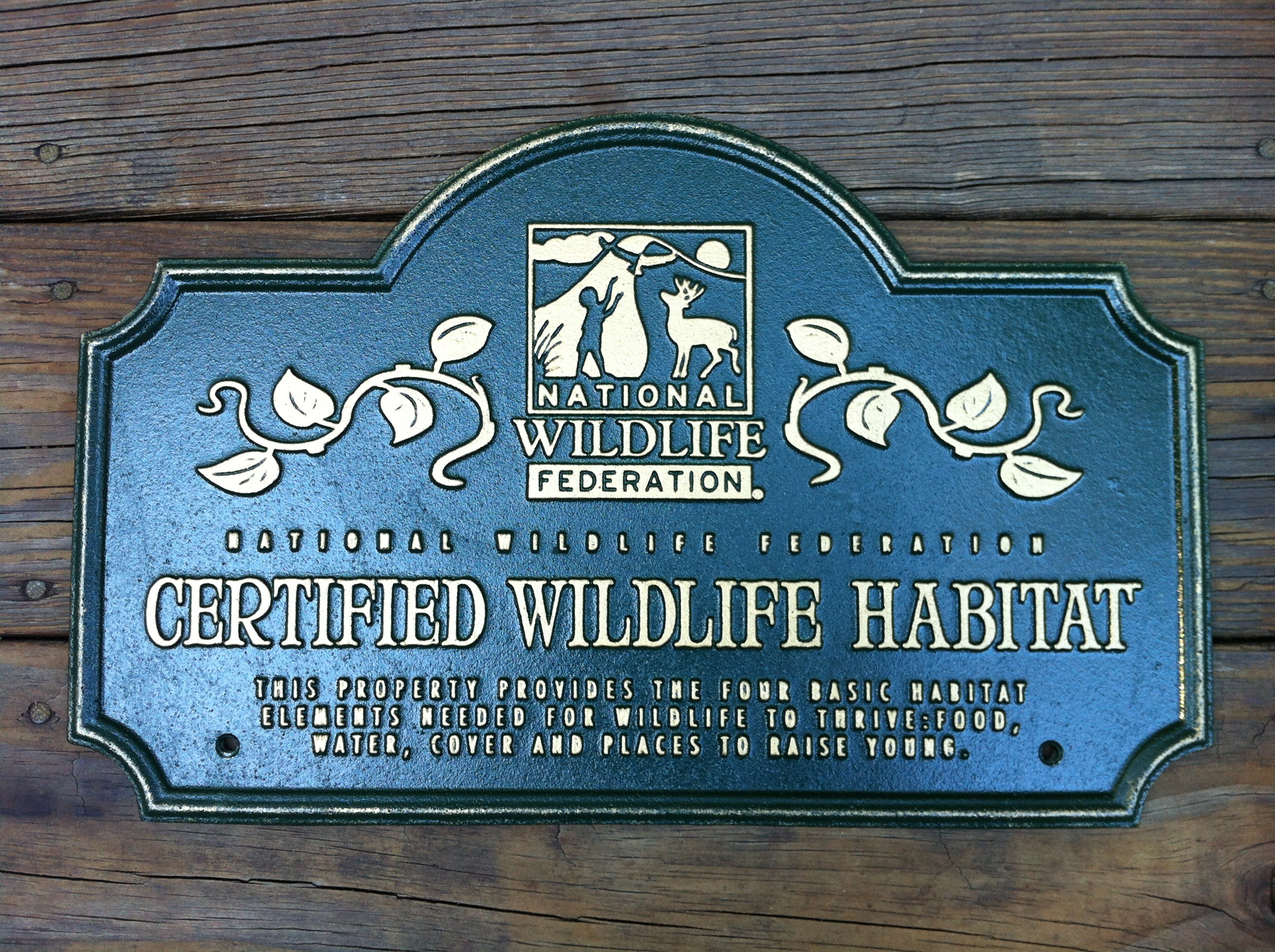 Certified Backyard Habitat how to turn your own backyard into a certified wildlife habitat! - a