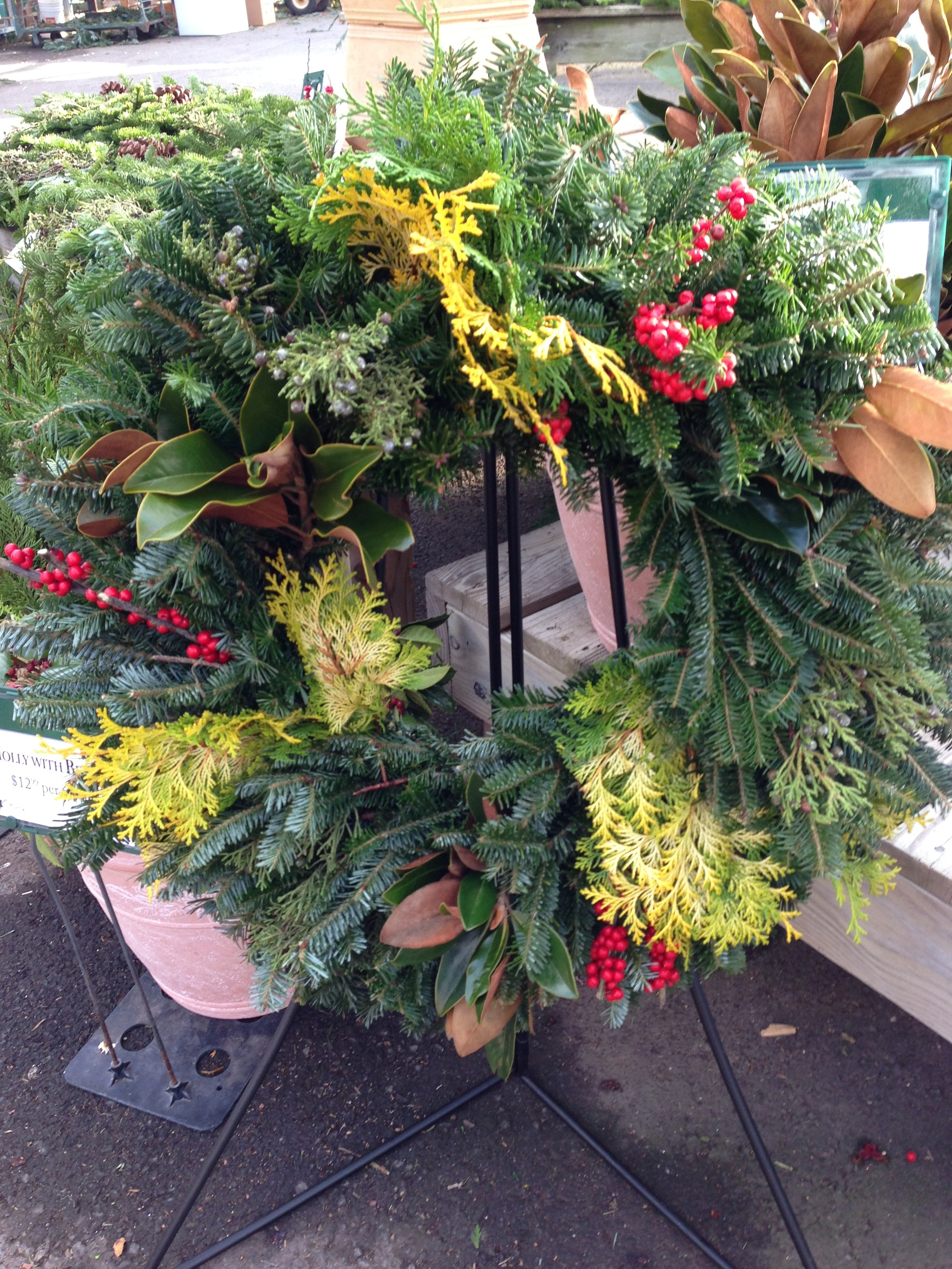 Merrifield Garden Center custom wreath (Photo Credit: Adroit Ideals)