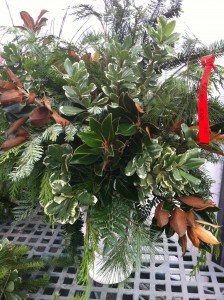 Festive Greenery in a Vase at Merrifield Garden Center (Photo Credit: Adroit Ideals)