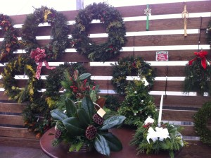 Custom Wreaths at Merrifield Garden Center (Photo Credit: Adroit Ideals)
