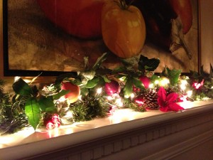 My Fireplace Mantel Garden with a Fruit Motif (Photo Credit: Adroit Ideals)