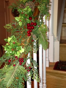 My faux stair garland (Photo Credit: Adroit Ideals)