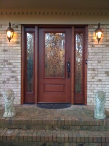 Our gorgeous new front door with black hardware (Photo Credit: Adroit Ideals)