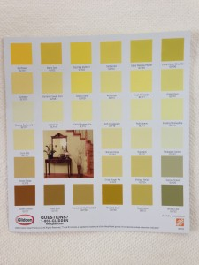 Paint Chips can help you decide what colors and hues work well together (Photo Credit: Adroit Ideals)