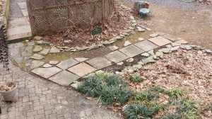My newest gardening project: A Slate Path