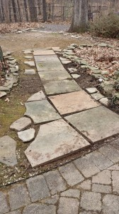 Just laying out the stones and will add a bluestone dust base to complete the project