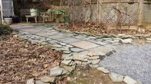 Completed Slate Walk -- View from the yard.