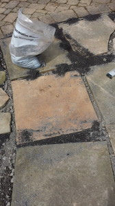 The bluestone dust is finer than the subbase.